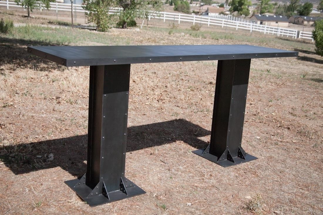 Buy A Custom Made Vintage/Modern Industrial Table Steel Or