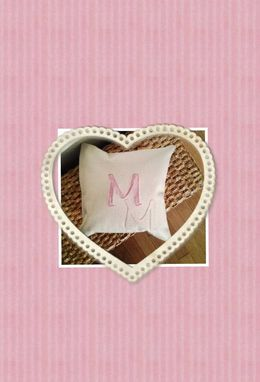 Custom Made Monogrammed Custom Pillow For Baby Girl