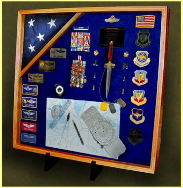 Custom Made Custom Shadow Boxes And Display Cases For Military Retirements