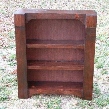 Custom Made Small Bookcase With Red Mahogany Stain