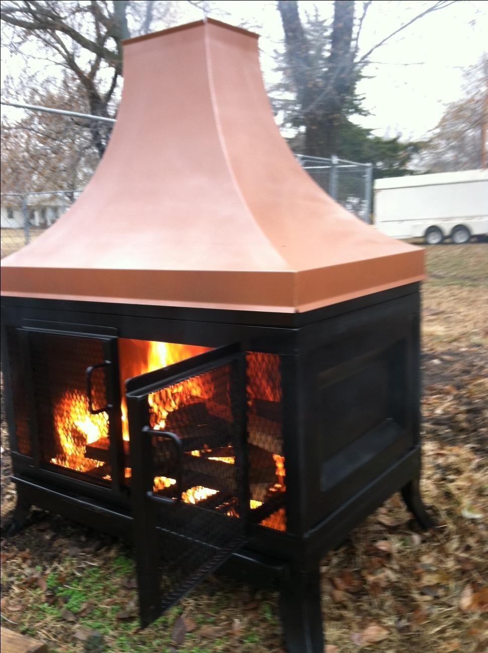 Handmade Custom Outdoor Fireplace By Kutz Fine Metalwork