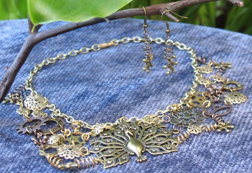 Custom Made Jewelry: Steampunk Necklace: Mechanical Lacework In Copper Tones