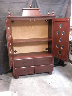Custom Puja (Pooja) Cabinet Armoire by The Wooden Knot ...