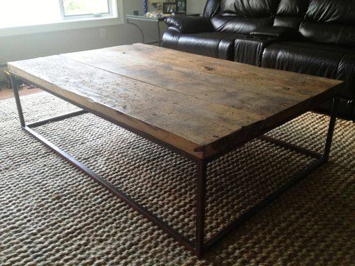 Industrial-Style Coffee Table - Hand Crafted Industrial-Style Coffee Table By E.B. Mann
