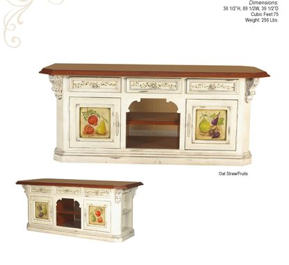 Custom Made Kitchen Island French Country Style