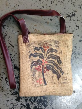 Custom Made Up Cycled Burlap Tablet Bag