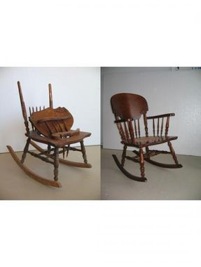 Custom Made Restored And Refinished Antique Rocking Chair