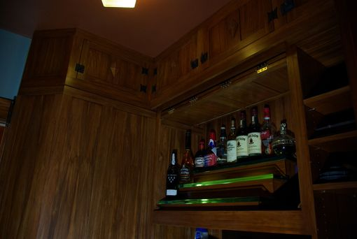 Custom Made Gumwood Liquor Cabinet