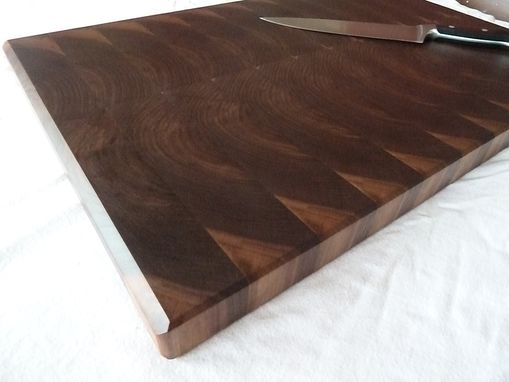 Custom Made Walnut End Grain Chopping Board, Butcher Block, Island