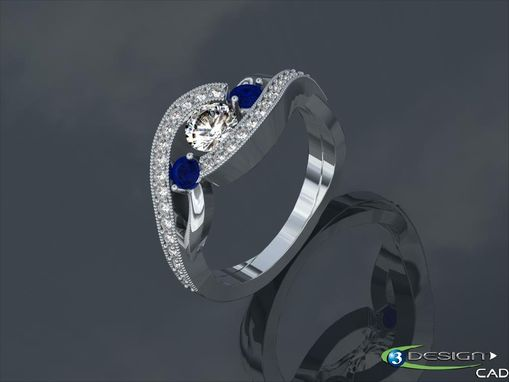 Custom Made Bypass Engagement Ring