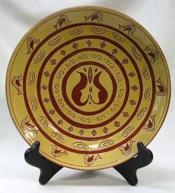 Custom Made Ceramic Plate, With Circle Design