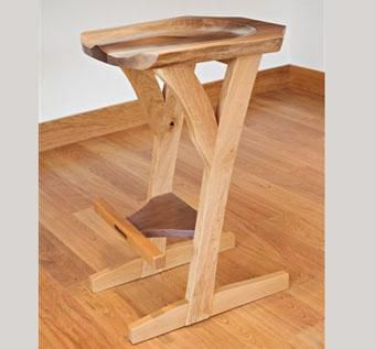 Custom Made Two-Legged Bar Stool
