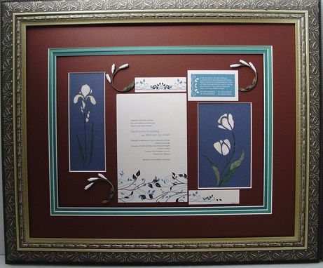 Custom Made Quilled Wildlife Wedding Invitation Keepsake Custom