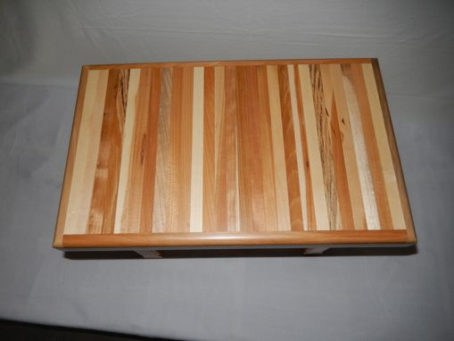 Custom Made Hand Crafted Solid Mixed Hardwood End Table