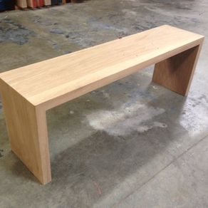 Custom benches for the home for Wrap around desk plans