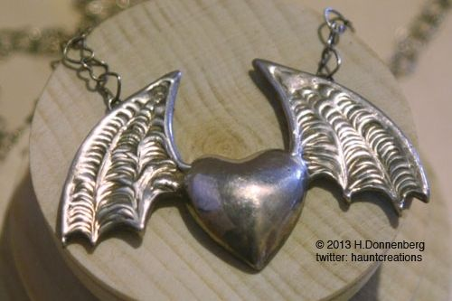 Custom Made Bat Winged Heart