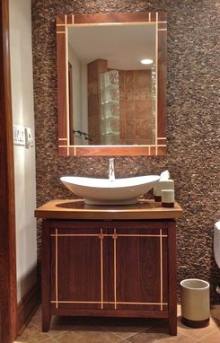 Custom Made Custom Vanity Cabinet And Matching Mirror