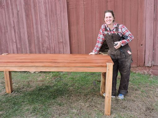 Custom Made Cherry Reclaimed Wood Farm Table