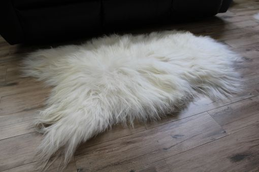 Custom Made Genuine Icelandic Sheepskin Rug Throw – Shade Of White