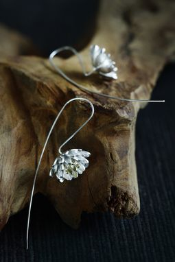 Custom Made Silver Lotus Flower Earrings