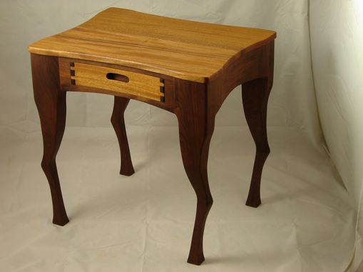 Custom Made Sitka End Table/Nightstand Mahogany Top And Drawer Front