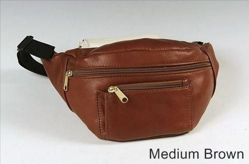 Custom Made Black Leather Hip Bag