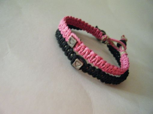 Custom Made Heart Couples Hemp Bracelets