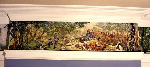 Custom Made Hand Painted Border Frieze Brownstone Renovation Historical Nyc Mural Artist