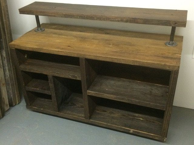 Hand Crafted Reclaimed Handcrafted Media Console Tv Stand