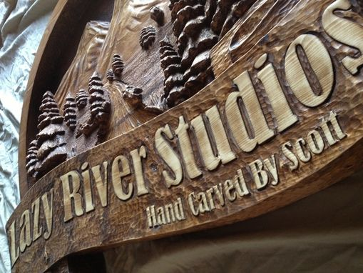 Custom Made Custom Made, Wooden Signs, Hand Carved By Scott, Home, Business, Cabin