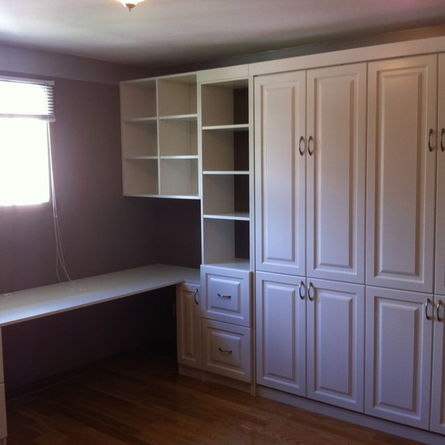 Hand Crafted Custom Home Office Murphy Bed By Motivo Interiors