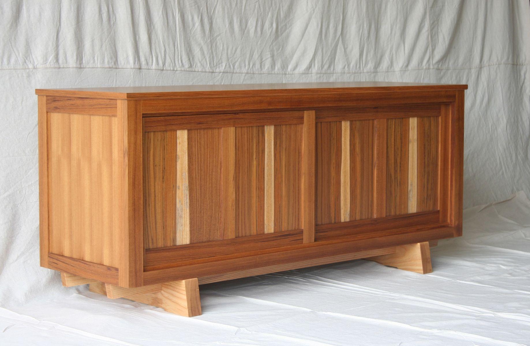 Custom Made Teak Credenza Cabinet