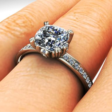 Custom Made Diamond Solitaire Engagement Ring