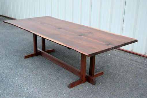 Custom Made Live Edge Walnut Nakashima Style Table