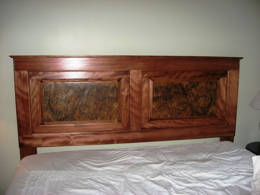 Custom Made Mahogany/ Walnut Buryl Headboard