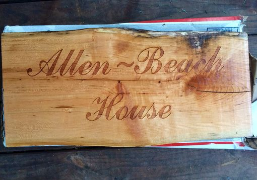 Custom Made Wooden House Sign For Cabin Or Beach