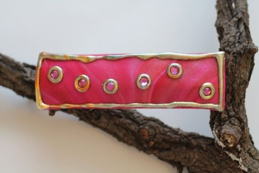 Custom Made Womens Barrette, Valentines Day Hair Clip, Boho, Gypsy, Hippie, Gold