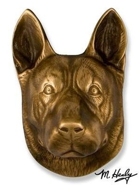 Custom Made German Shepherd Dogknocker
