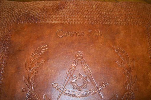Custom Made Custom Leather Mason Apron Case With Custom Design By Client