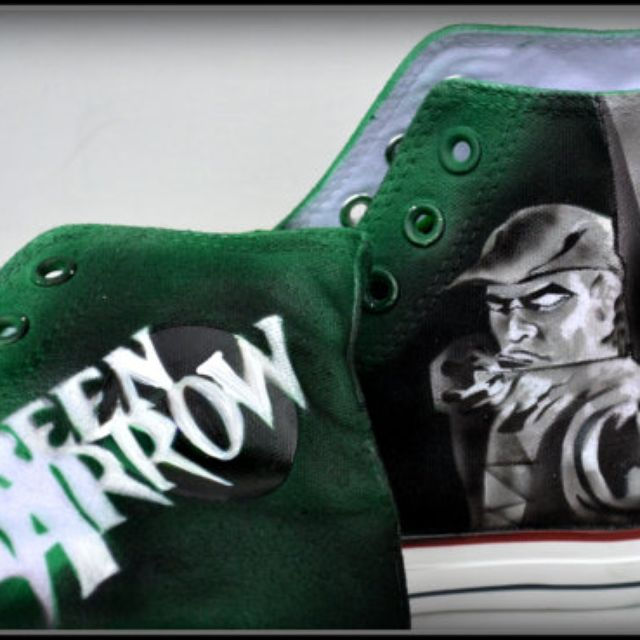 8ea471166c5f Buy Hand Made Green Arrow Sneakers