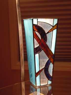 Custom Made Stained Glass Vase