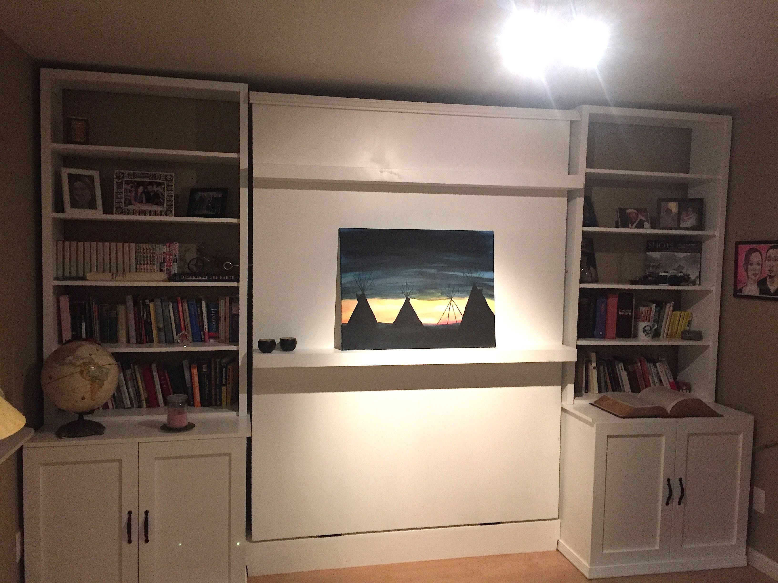 Custom murphy bed and wall unit by heartsong woodwork custommade custom made murphy bed and wall unit amipublicfo Gallery