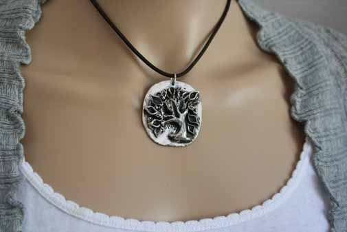 Custom Made Fine Silver - Spirit Tree Necklace - $280