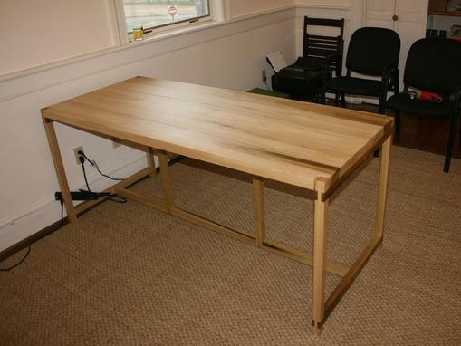Custom Made Co-Working Desk, In Poplar