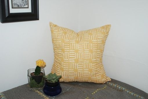 Custom Made Yellow Ecclectic Decorative Pillow Cover - Yellow Ethnic Pillow Cover
