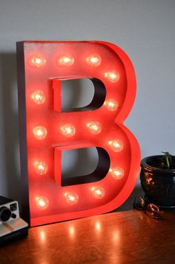 Custom Made Vintage Inspired Marquee Light- Letter B