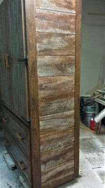 Custom Made Rustic Oak Kitchen Pantry