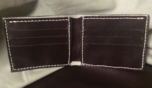 Custom Made Ostrich Shin Leather Wallet Men's Bifold With Calf And Goat Interior