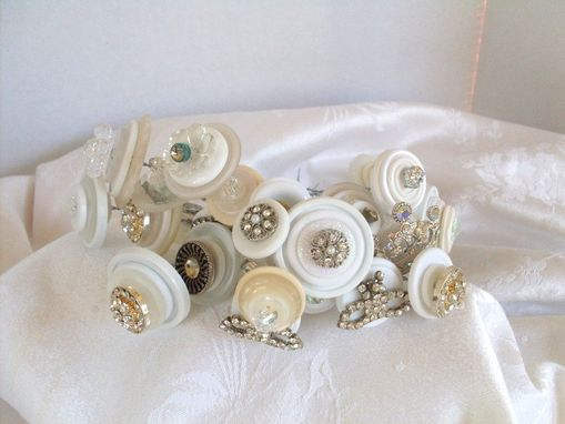 Custom Made Button Stems With Rhinestones