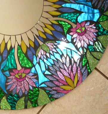 Custom Made Mosaic Stained Glass Mirror